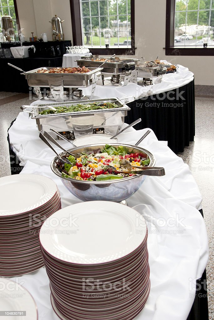 Wedding Catering Buffet Table stock photo