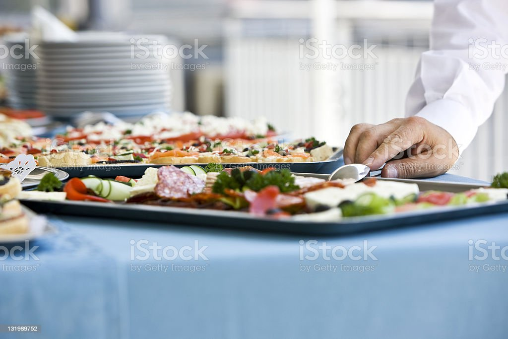 Wedding catering royalty-free stock photo