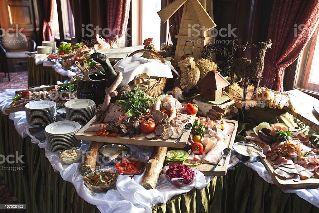 Wedding catering XXXL stock photo