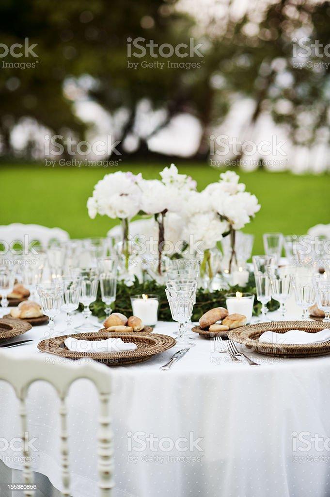 Wedding Celebration Dinner royalty-free stock photo