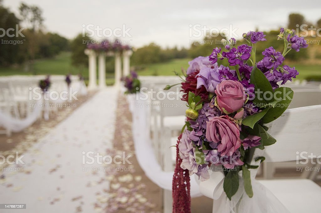 Wedding ceremony location royalty-free stock photo