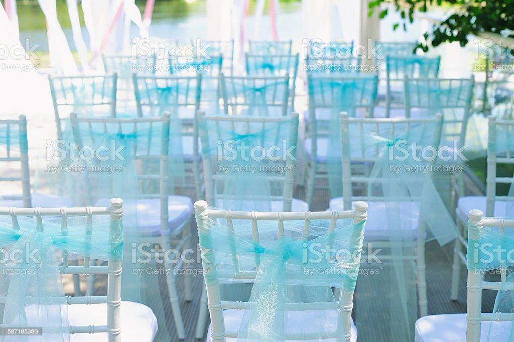 Wedding ceremony location stock photo