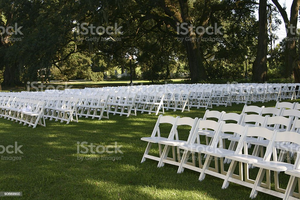 Wedding Chairs - part 2 royalty-free stock photo