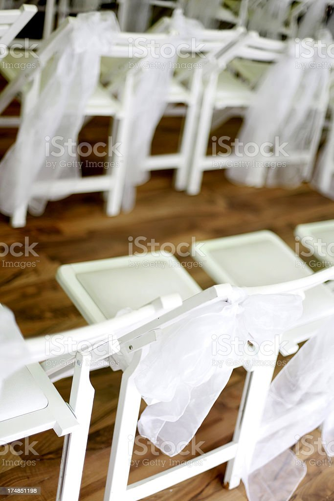 Wedding chairs scene at Marriage Ceremony royalty-free stock photo