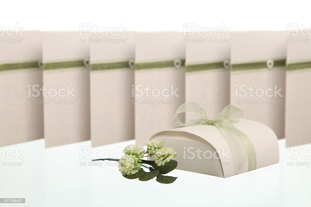 Wedding confetti box royalty-free stock photo