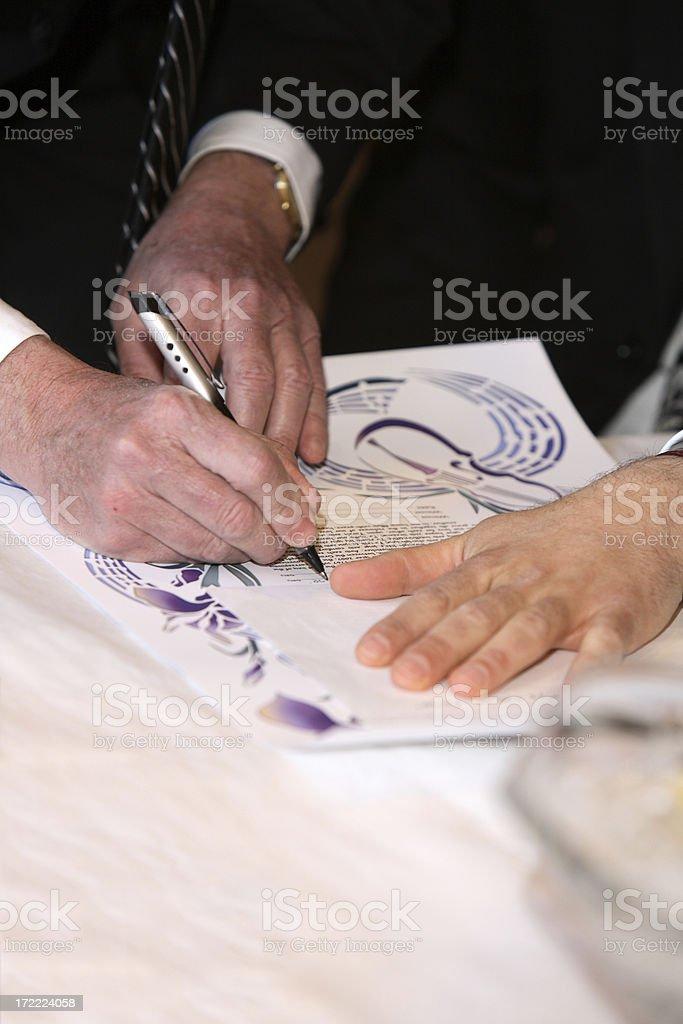 Wedding Contract royalty-free stock photo