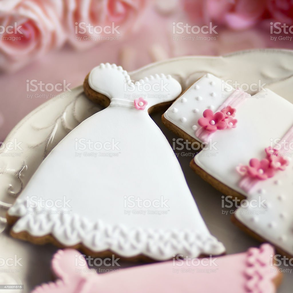 Wedding cookies stock photo