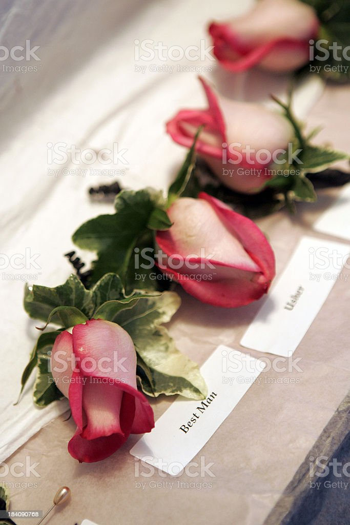 Wedding Corsages for the party royalty-free stock photo