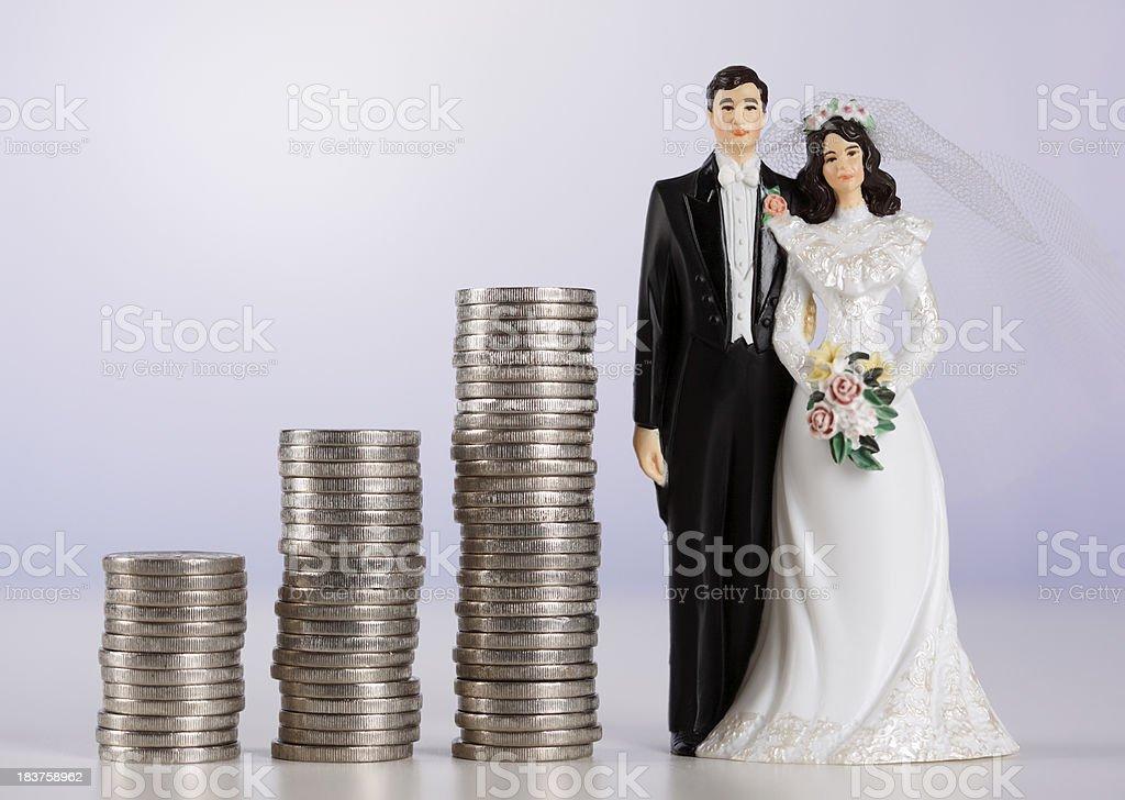Wedding costs stock photo