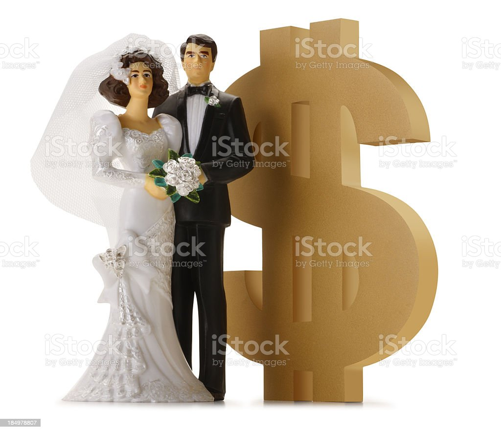 Wedding Costs royalty-free stock photo