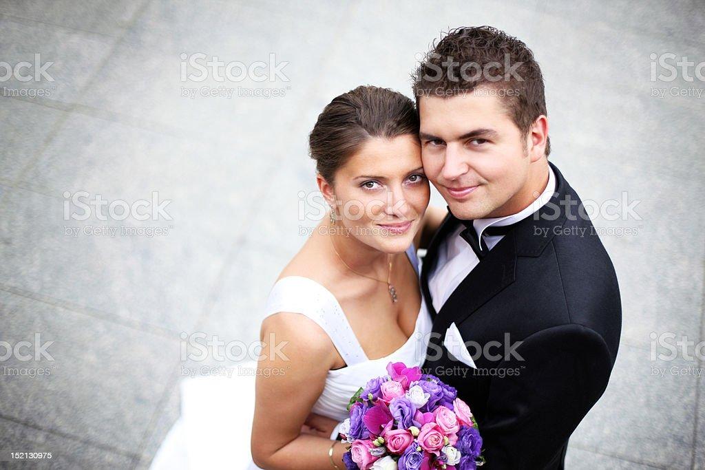 Wedding couple royalty-free stock photo