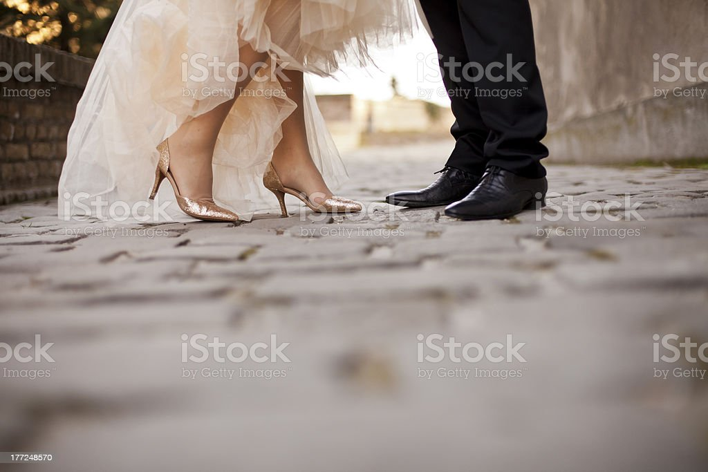 Wedding couple stock photo