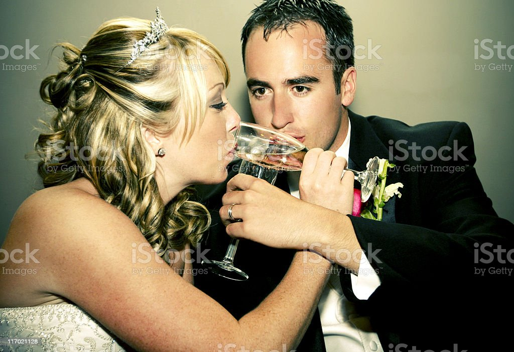 wedding couple portraits royalty-free stock photo
