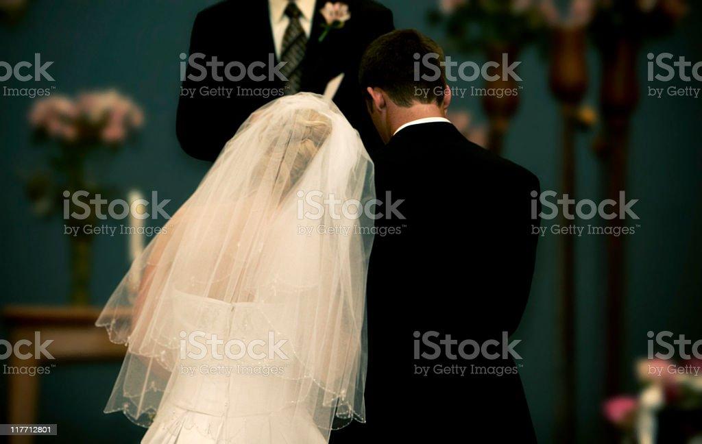 wedding couple portraits stock photo