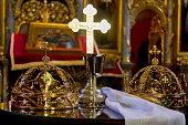 Wedding crowns in Orthodox church