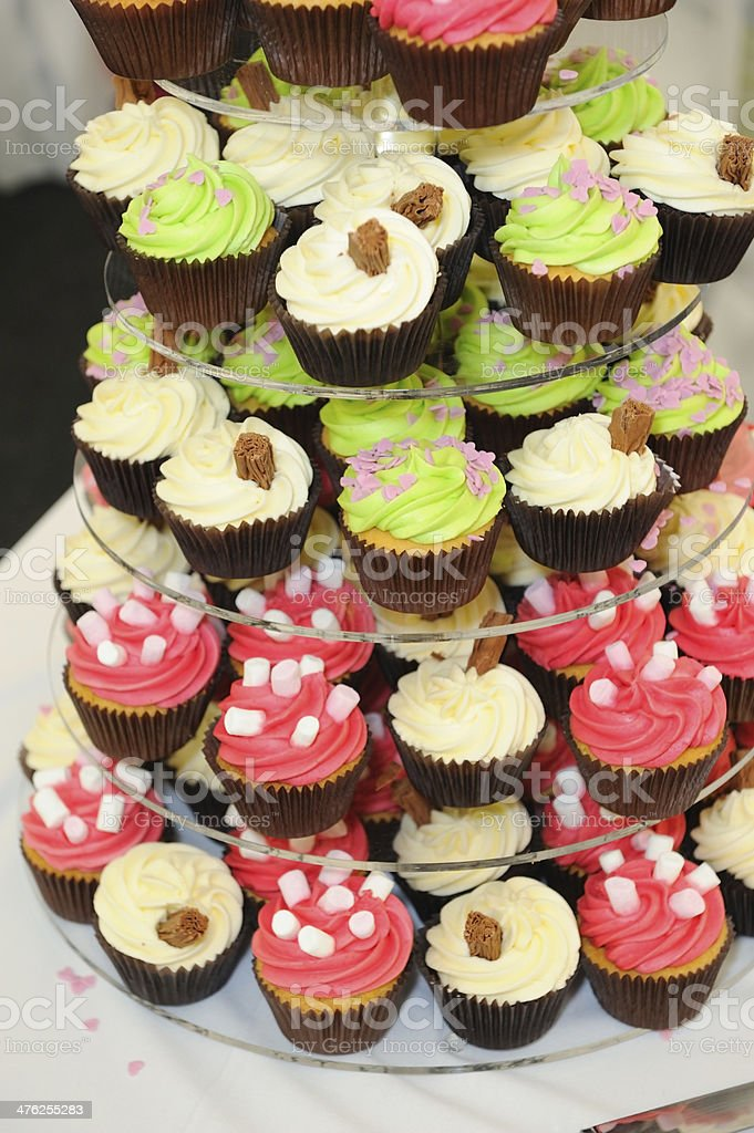 Wedding cup cakes royalty-free stock photo