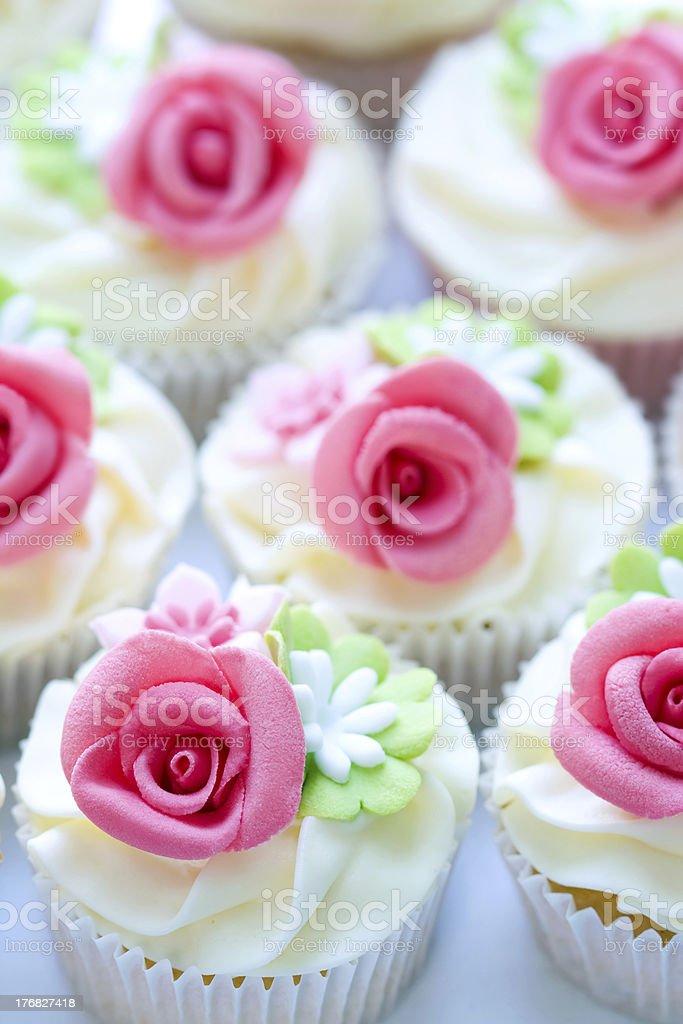 Wedding cupcakes royalty-free stock photo