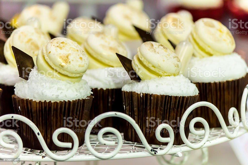 Wedding cupcakes. stock photo