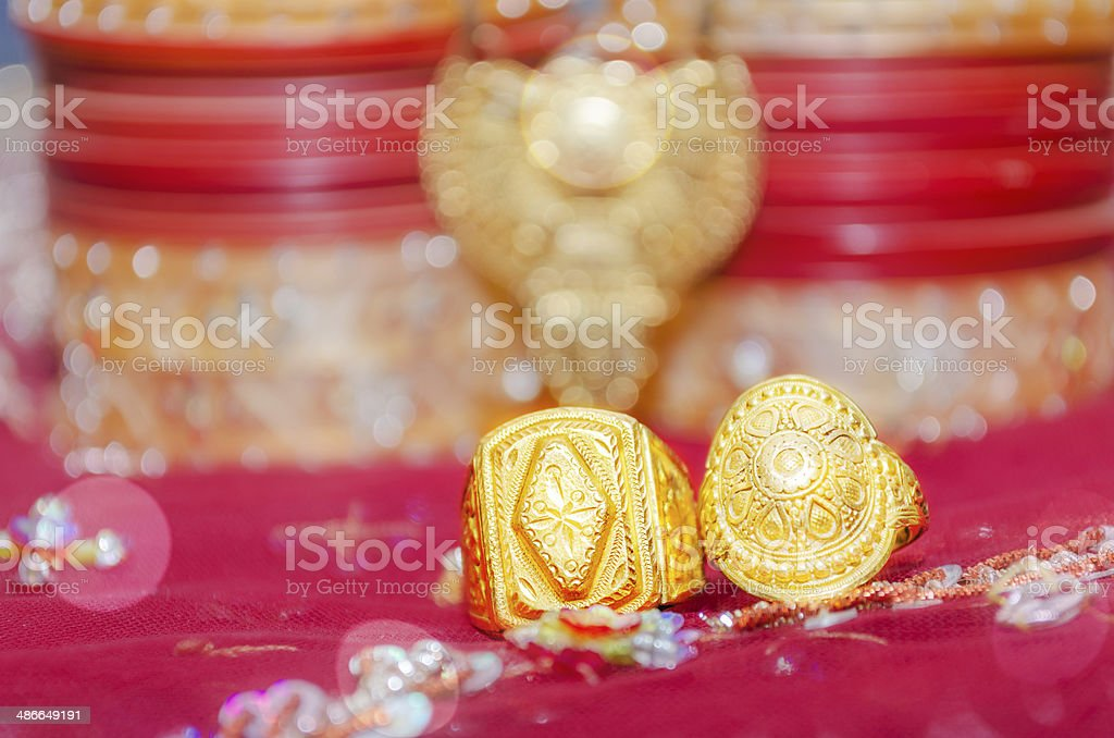 wedding day accessories stock photo
