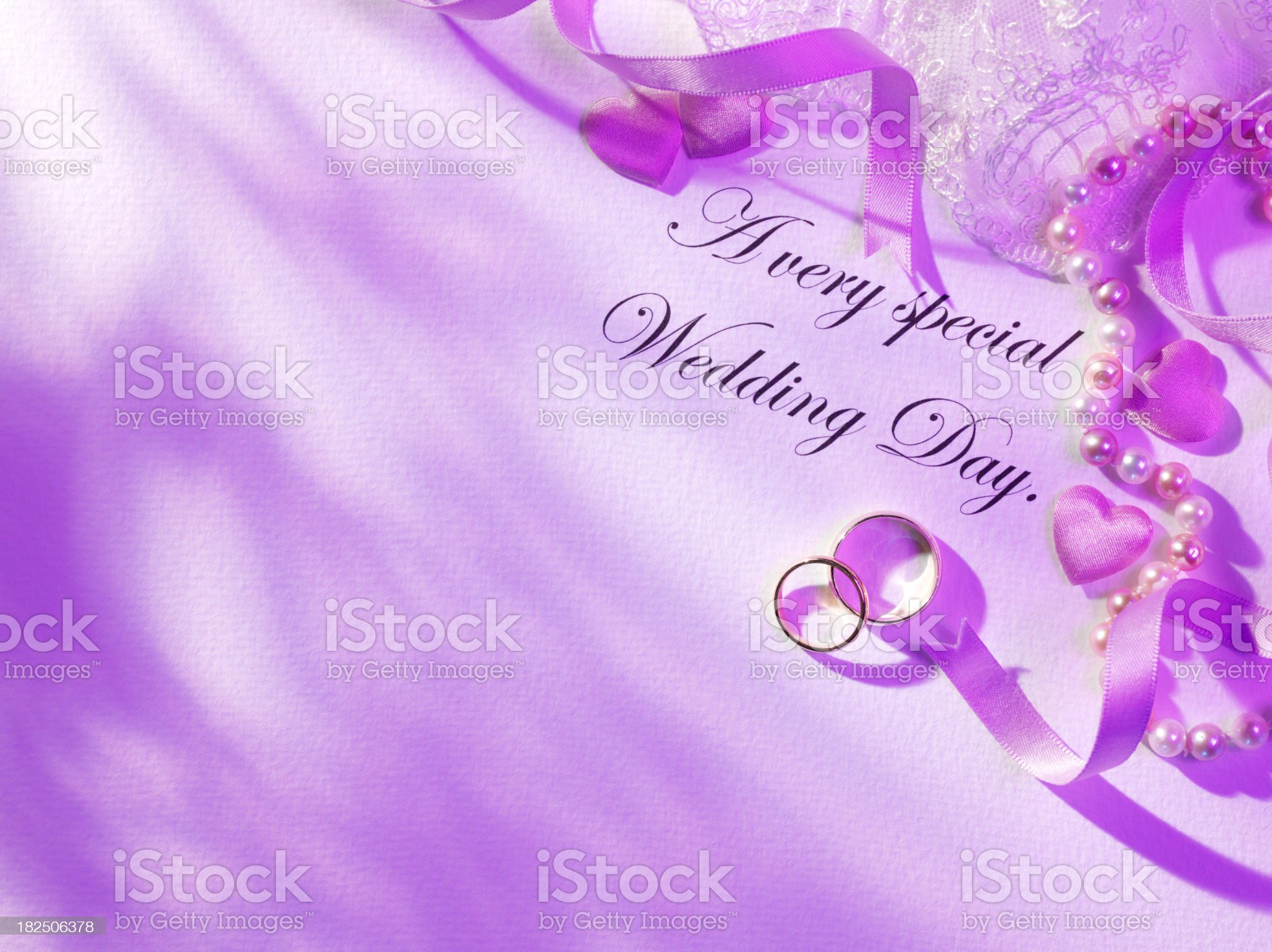 Wedding Day and Bridal Wear royalty-free stock photo