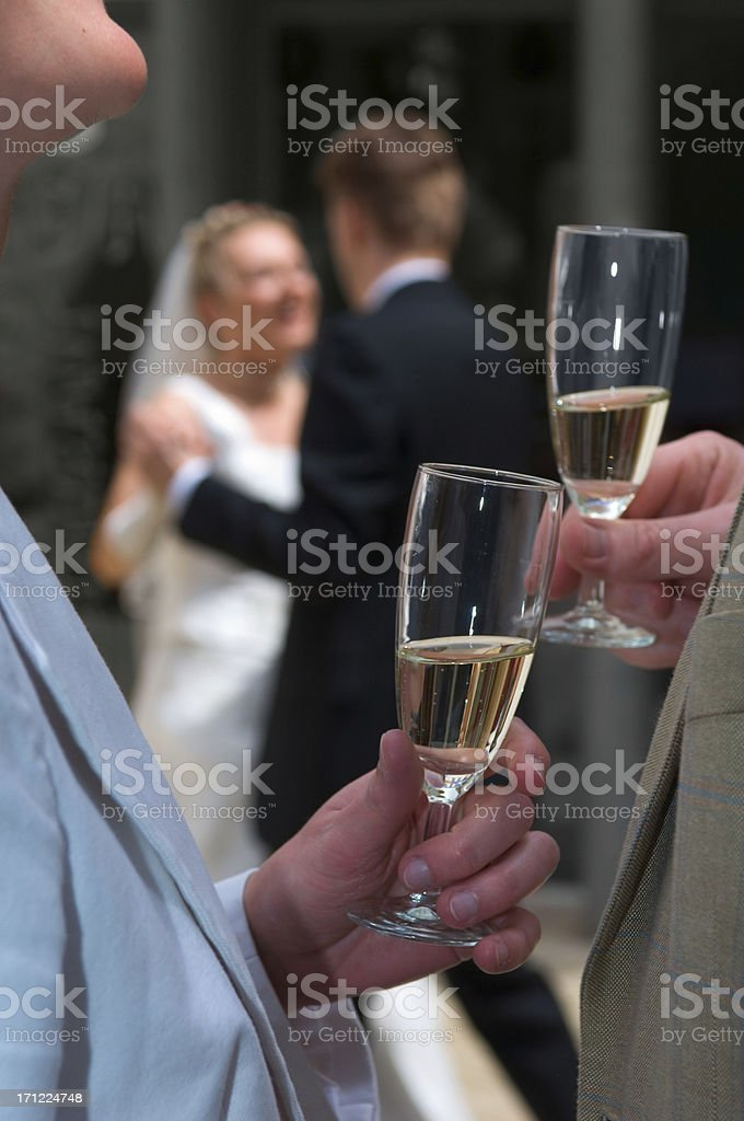 wedding day: cheers royalty-free stock photo
