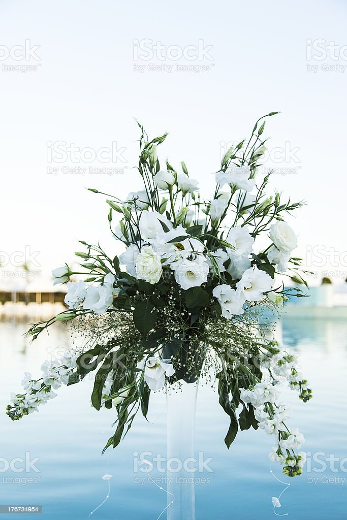 Wedding day flowers royalty-free stock photo
