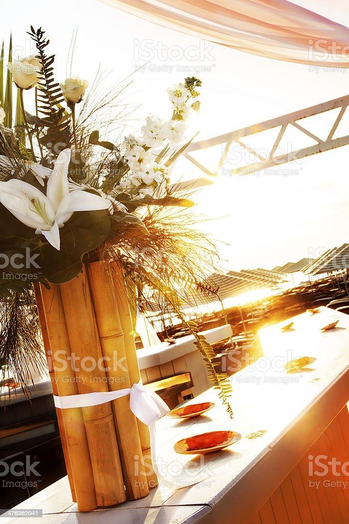 Wedding day flowers royalty-free stock photo