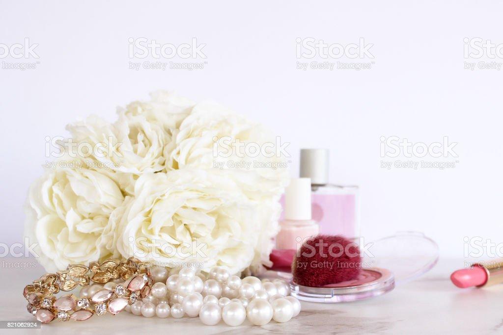 Wedding day preparation stock photo
