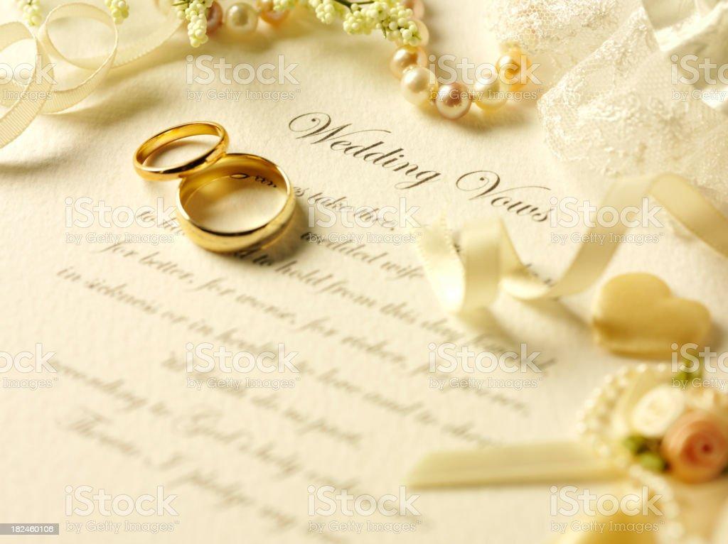 Wedding Day Vows stock photo