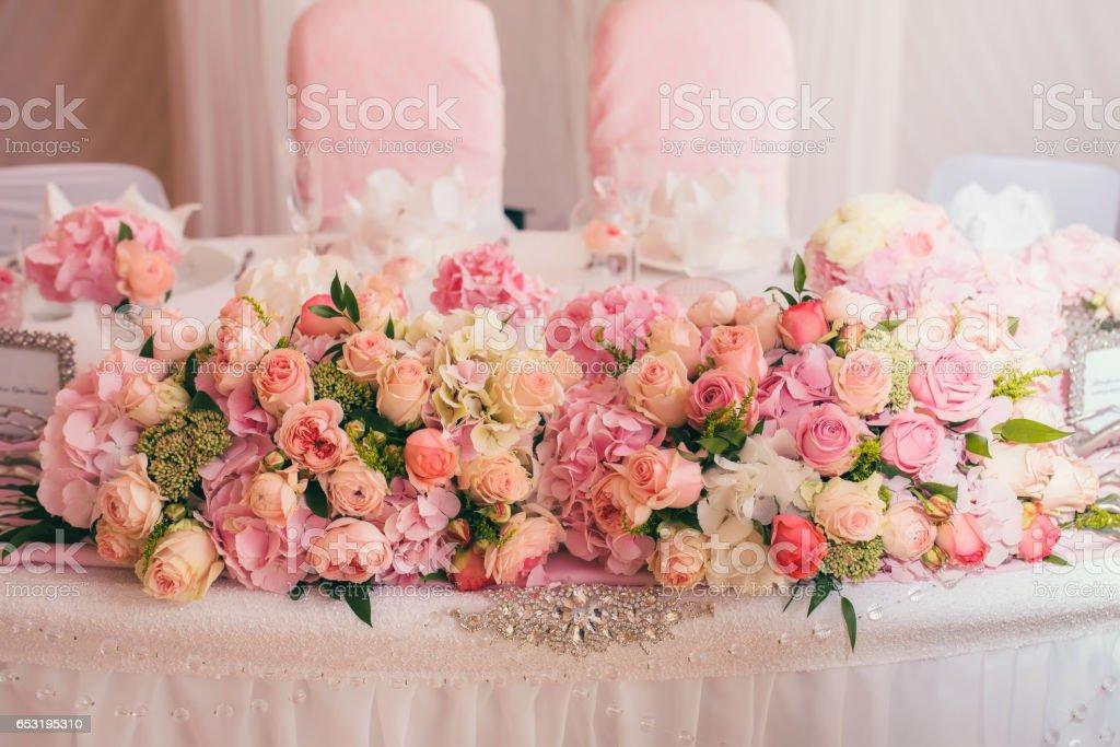 wedding decor flowers bride bouquet stock photo