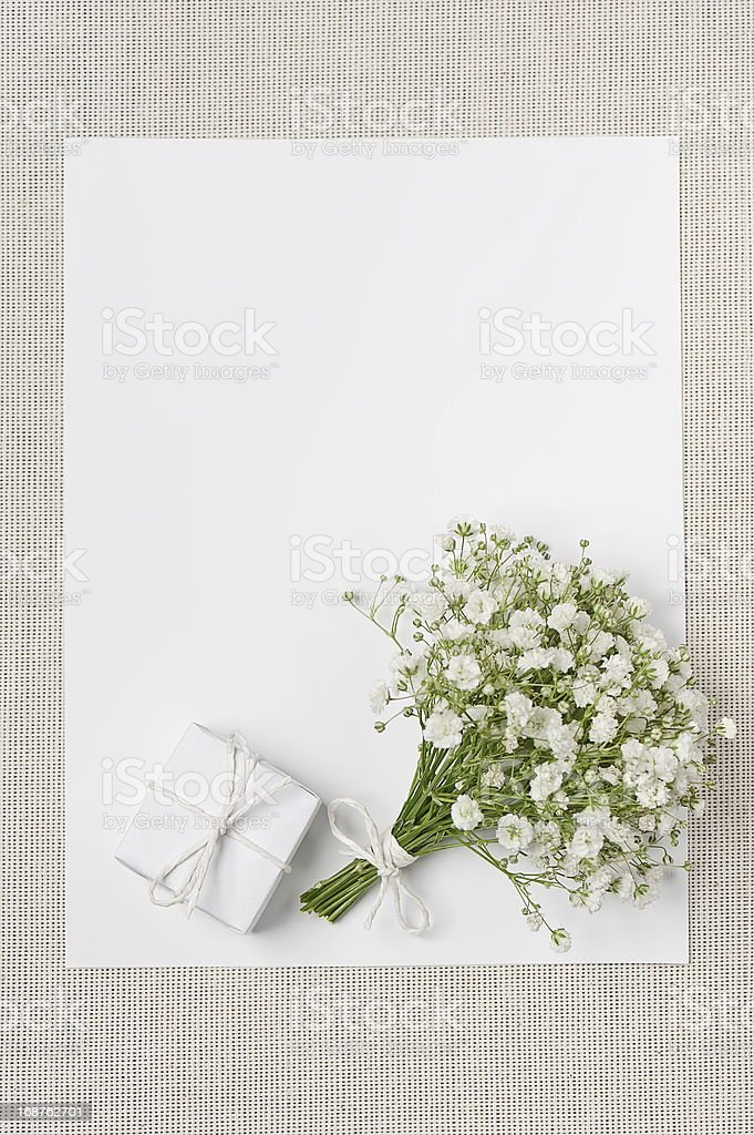 Wedding decor in ecological style royalty-free stock photo