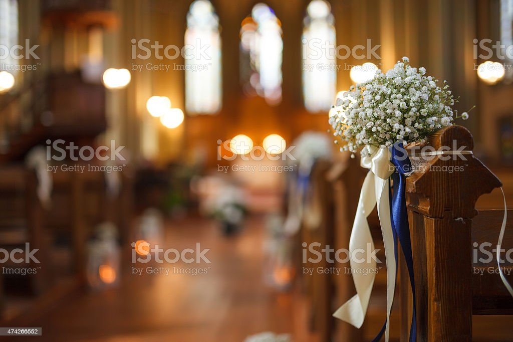 Wedding decor stock photo