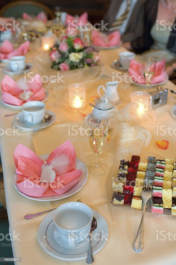 wedding: decorated table royalty-free stock photo