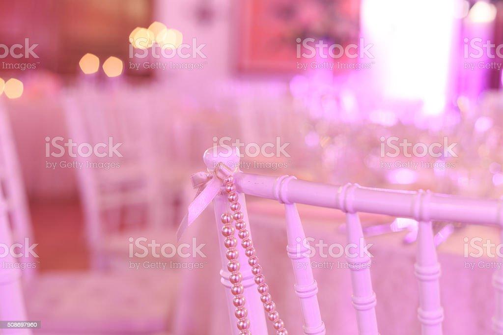 Wedding  decoration in purple stock photo