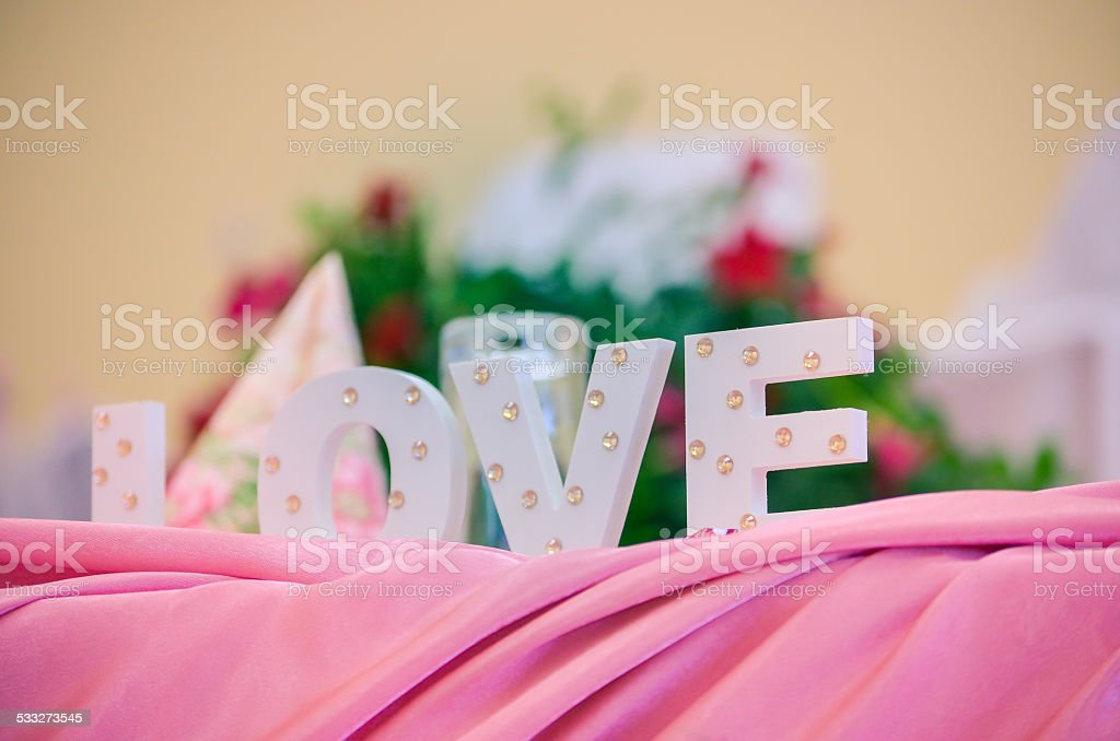 Wedding decoration LOVE royalty-free stock photo