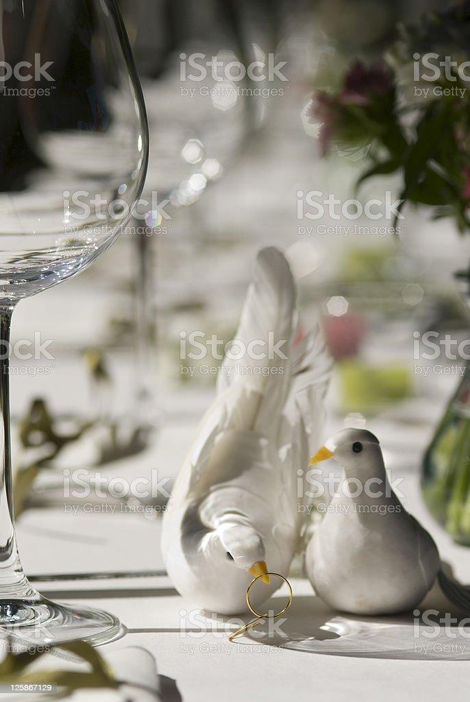 Decorazioni di nozze foto stock royalty-free