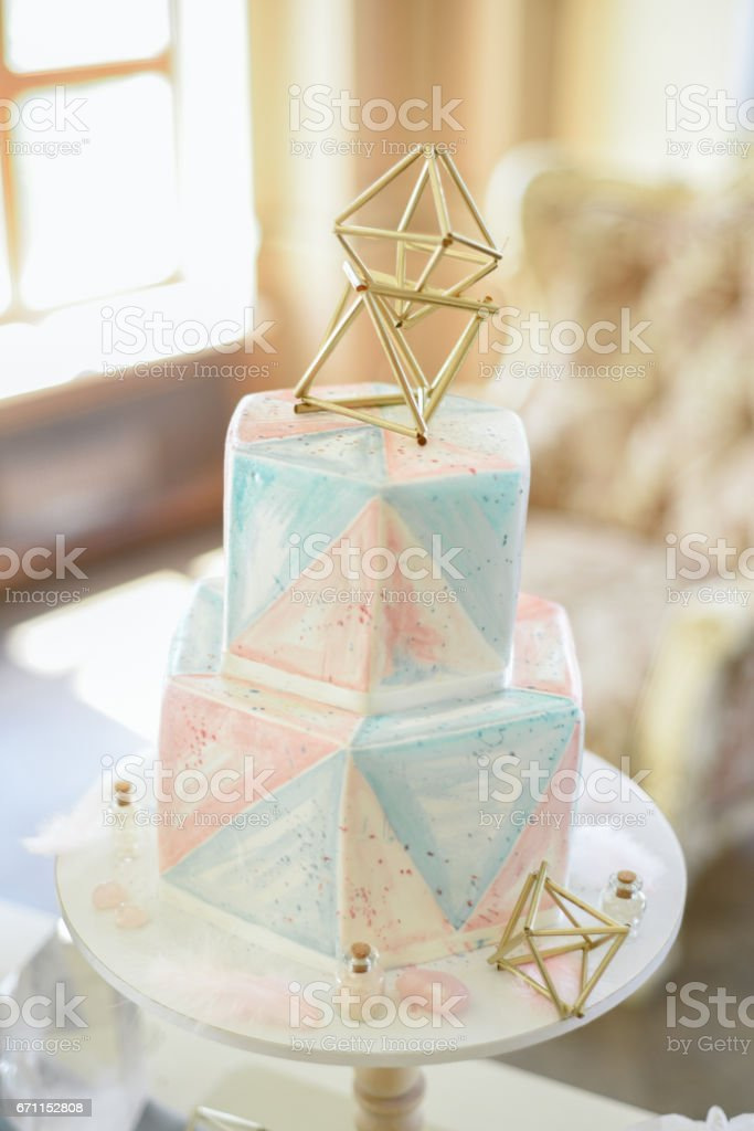 Wedding decoration with crystals stock photo
