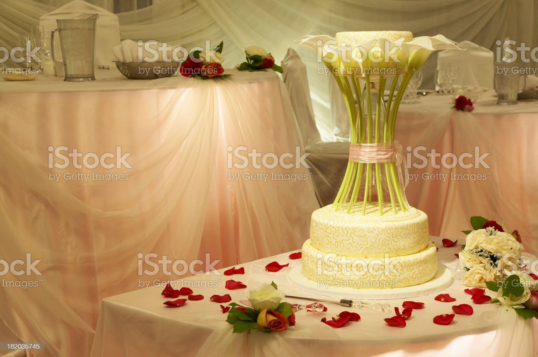 Wedding Delight Cake royalty-free stock photo