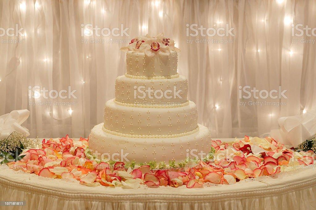 Wedding dessert Cake on the table royalty-free stock photo