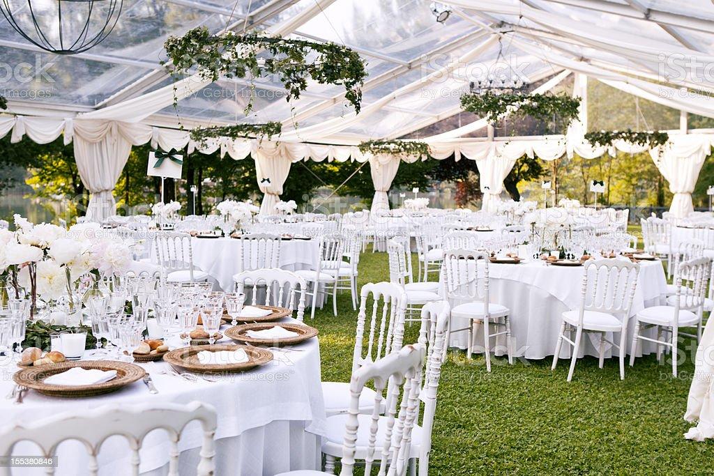 Wedding Dinner Celebration stock photo