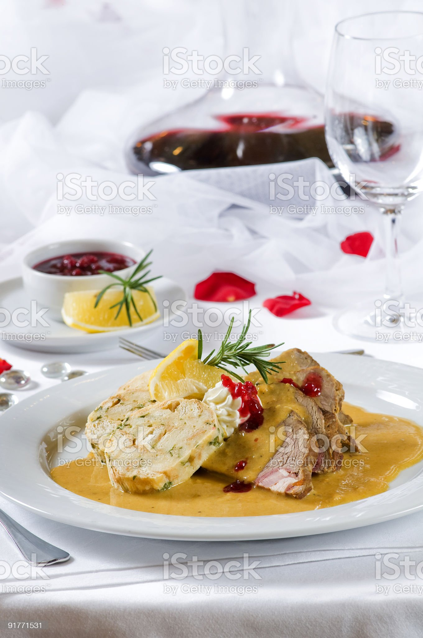 Wedding dinner royalty-free stock photo
