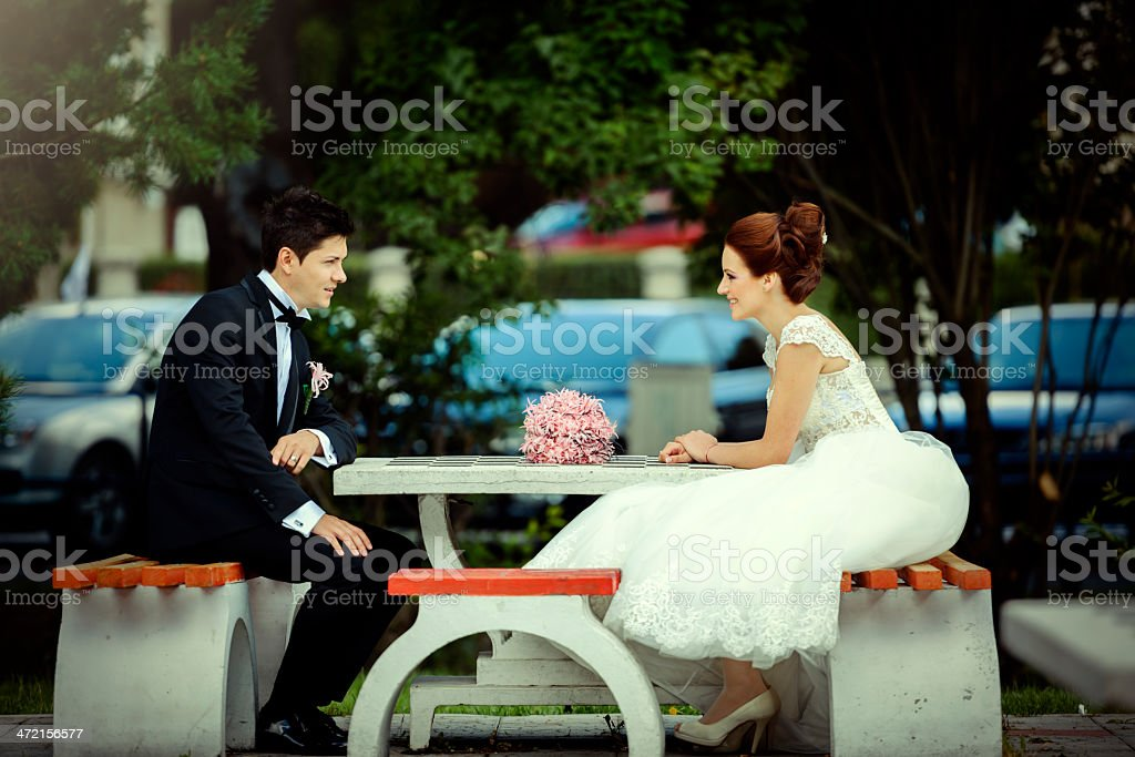 wedding discussion royalty-free stock photo
