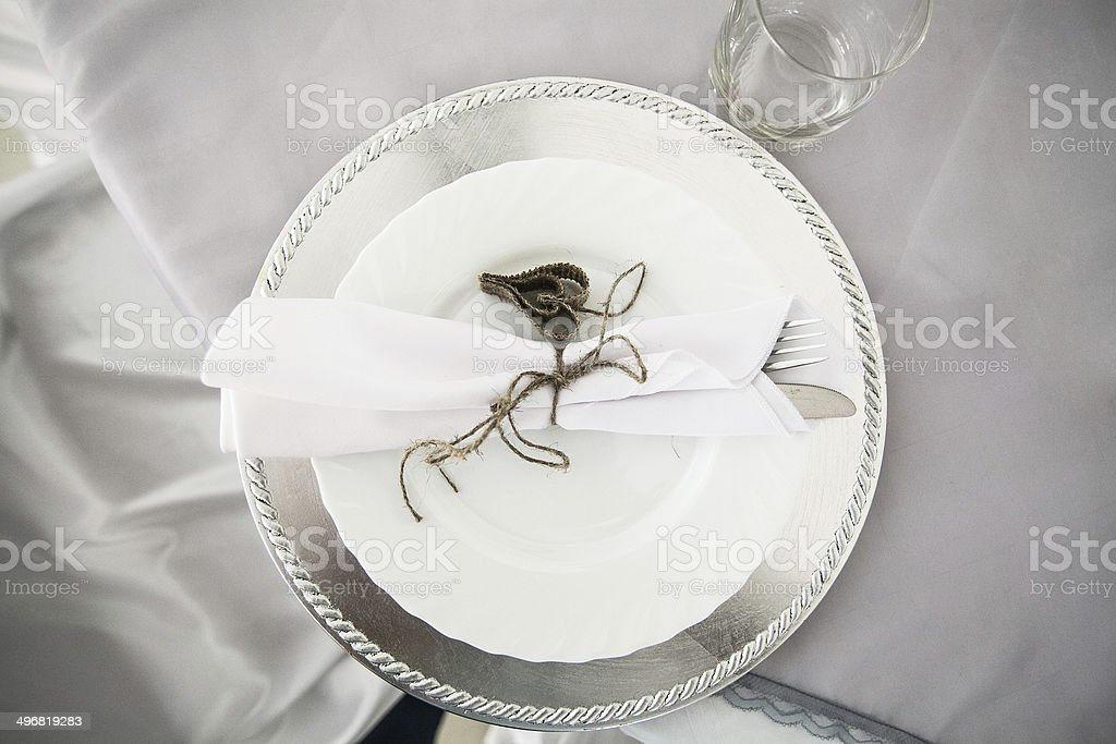 Wedding dish stock photo