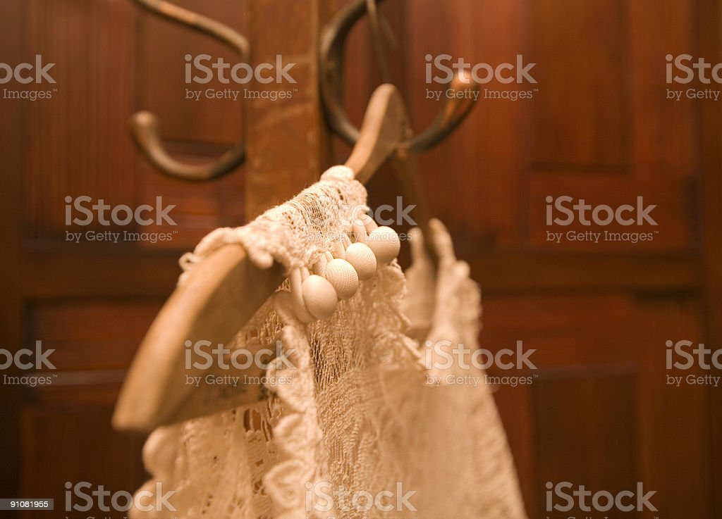 wedding dress buttons stock photo