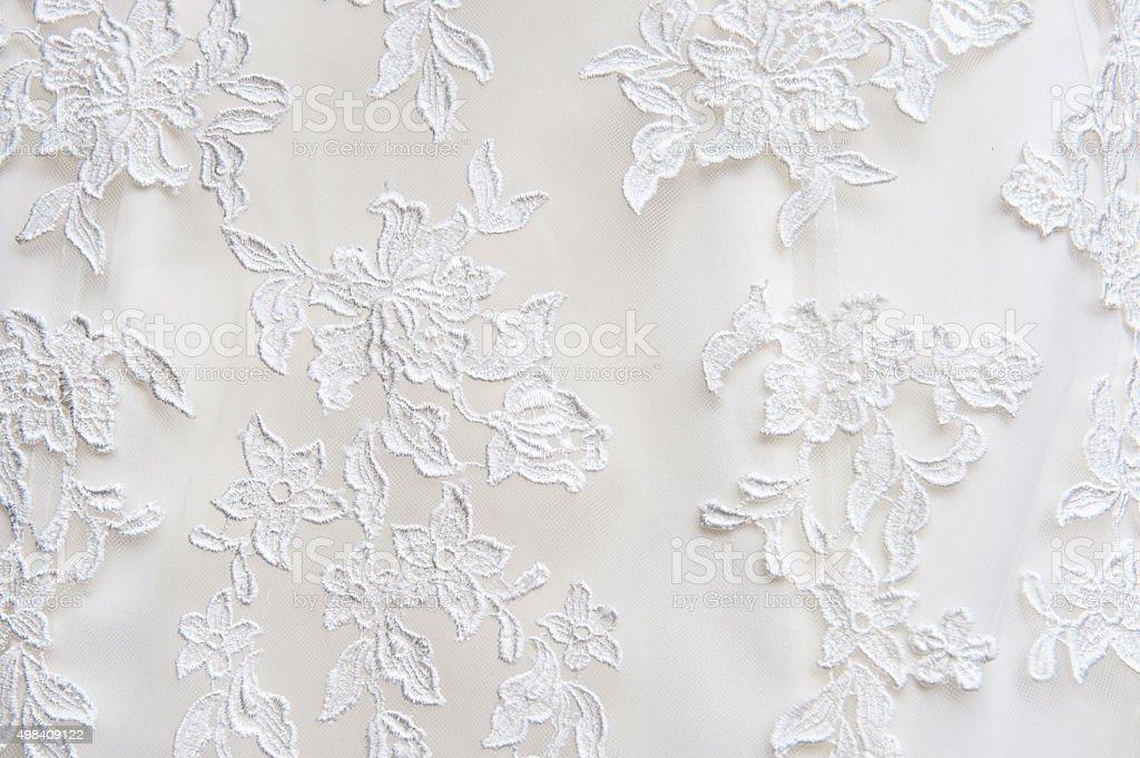 Wedding Dress Lace Detail stock photo
