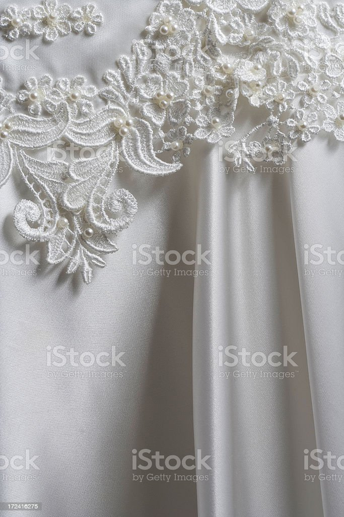 Wedding Dress Lace royalty-free stock photo