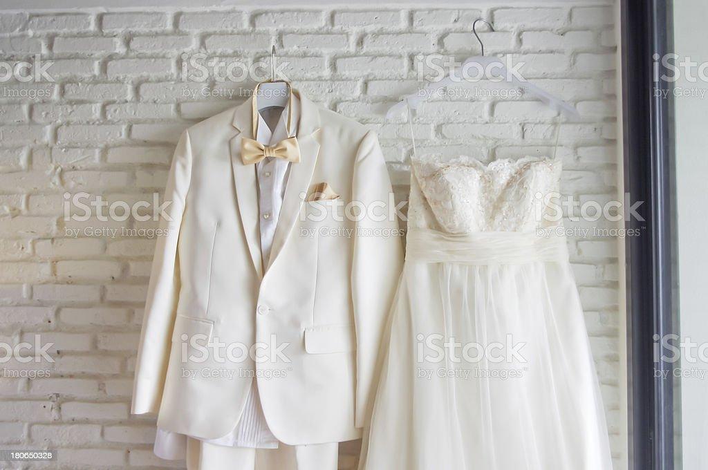 Wedding dress royalty-free stock photo