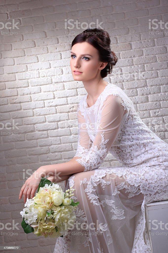 Wedding dress. royalty-free stock photo