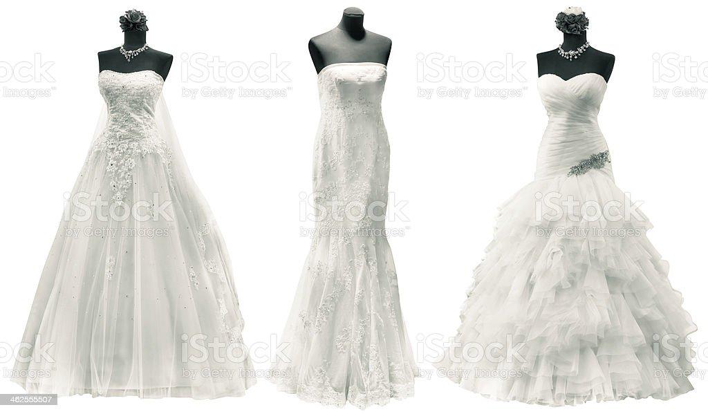Wedding Dresses Cutout stock photo