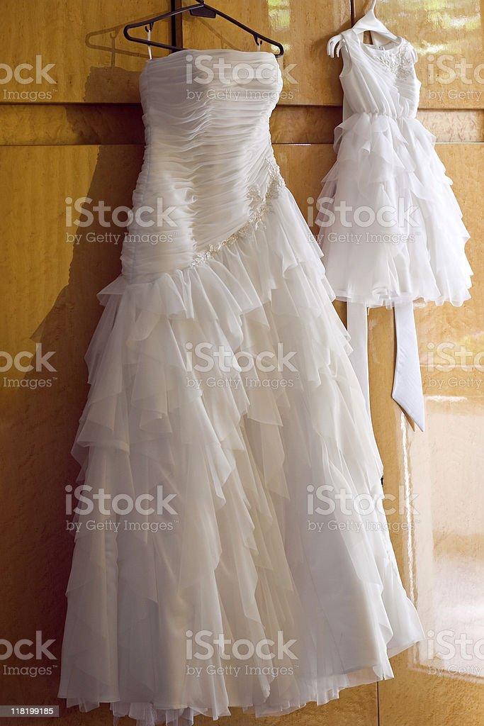 Wedding  dresses royalty-free stock photo